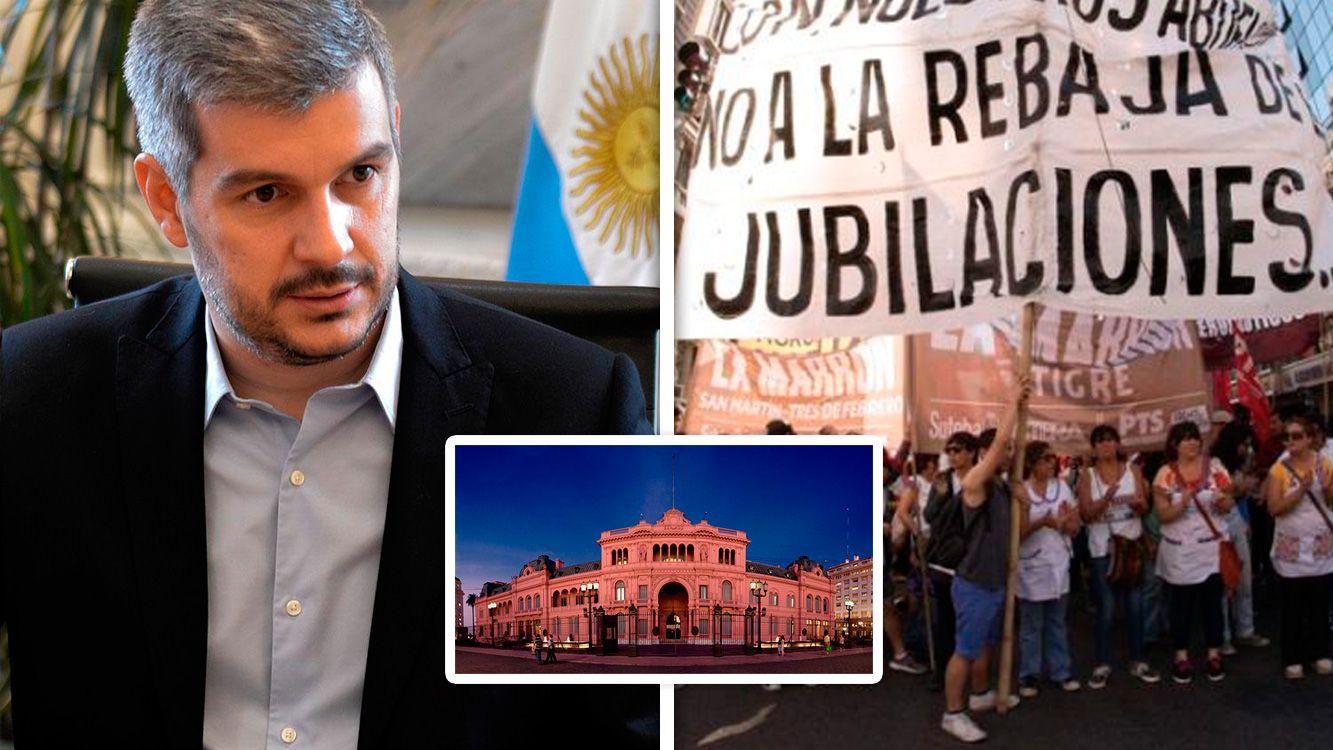 """Marcos Peña convocó una reunión """"urgente"""" por la reforma previsional en Casa Rosada"""