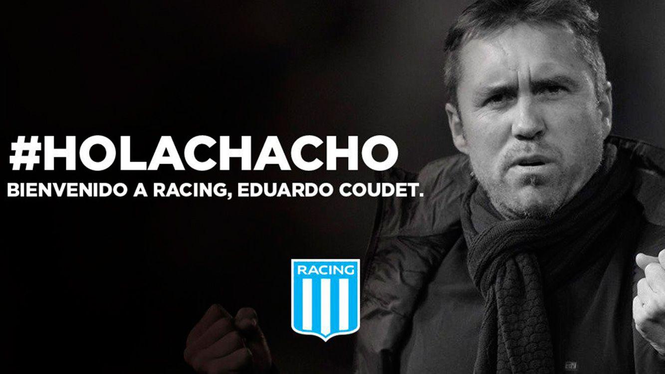 Eduardo Coudet, nuevo DT de Racing Club