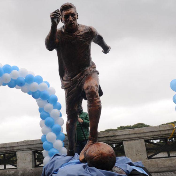 La nueva estatua de Messi