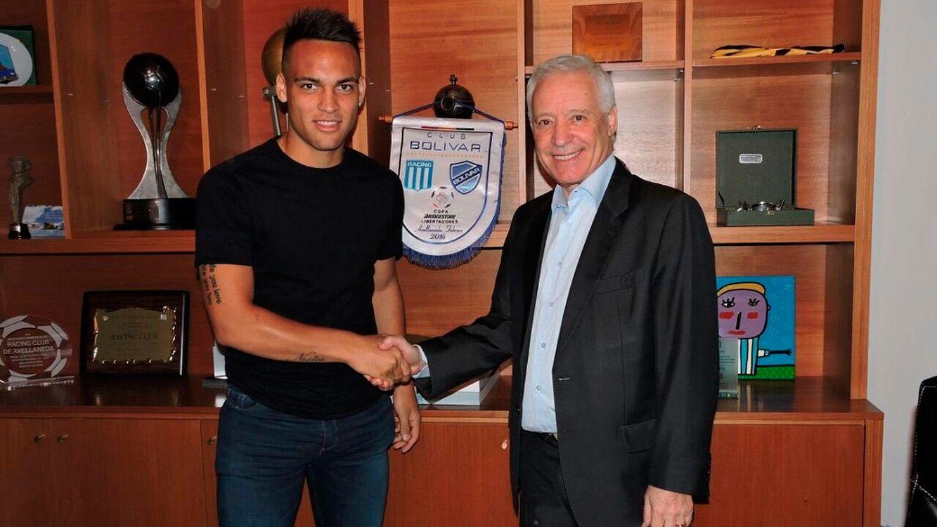 """Víctor Blanco, presidente del club,aseguró: """"Tenemos a la joya que tiene el fútbol argentino y tiene que valer más de 20 millones de dólares""""."""