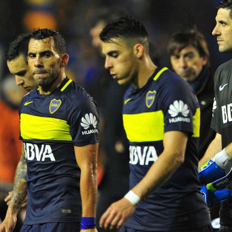 La decepción de los jugadores de Boca Juniors