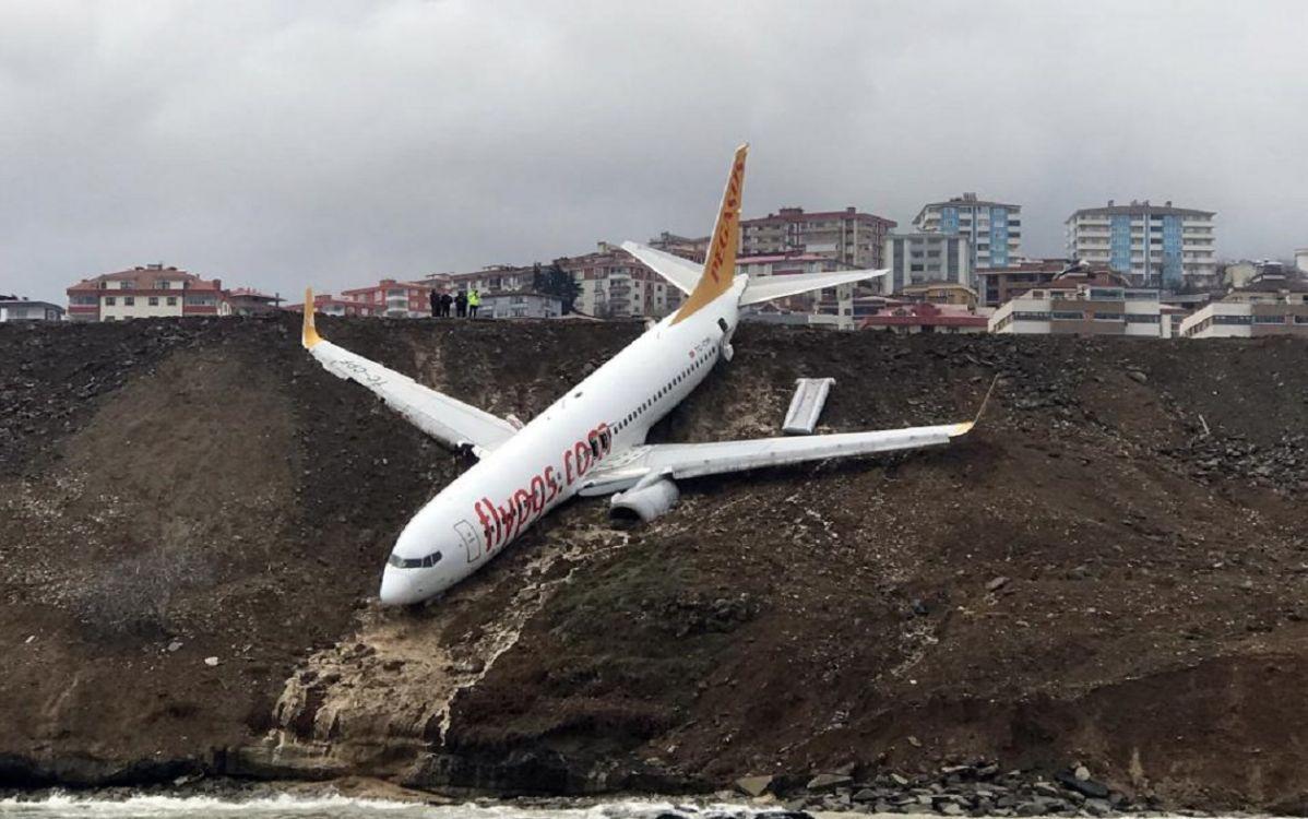 Un avión con 168 pasajeros casi cae al mar. Video