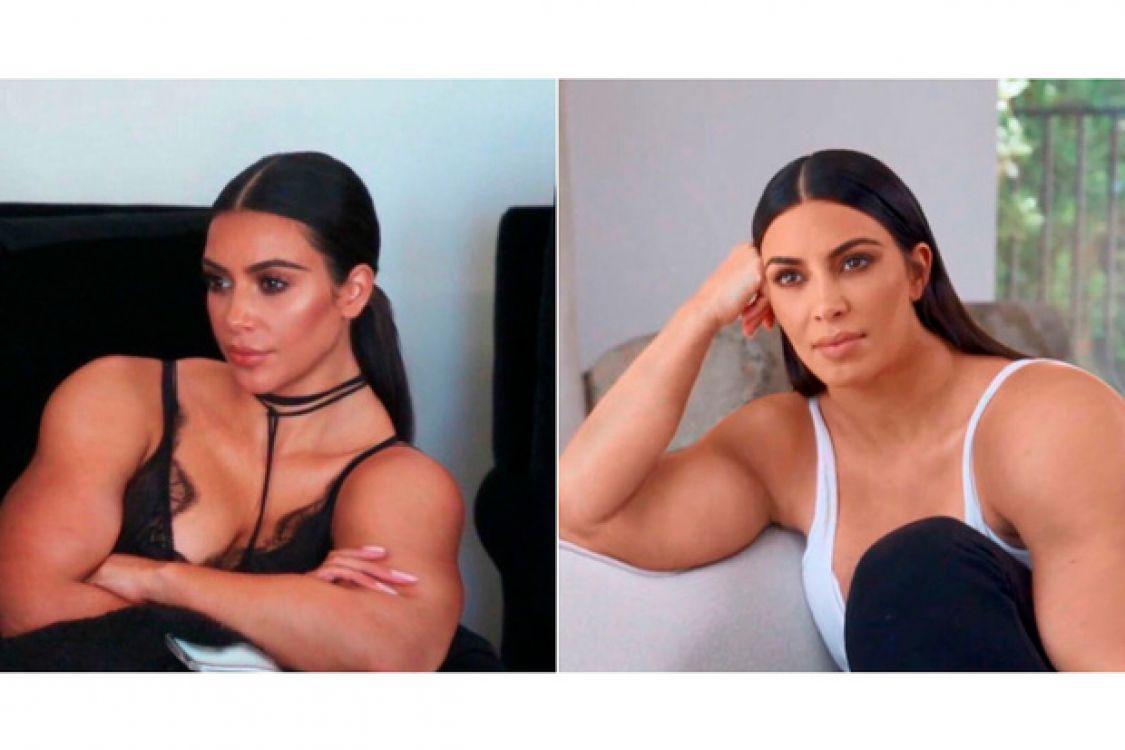 Kim Kardashian volvió a romper internet, bueno sus bíceps lo hicieron