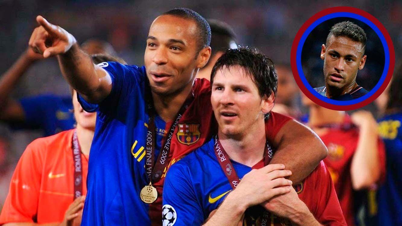 Thierry Henry elogió a Messi y fue duro con Neymar