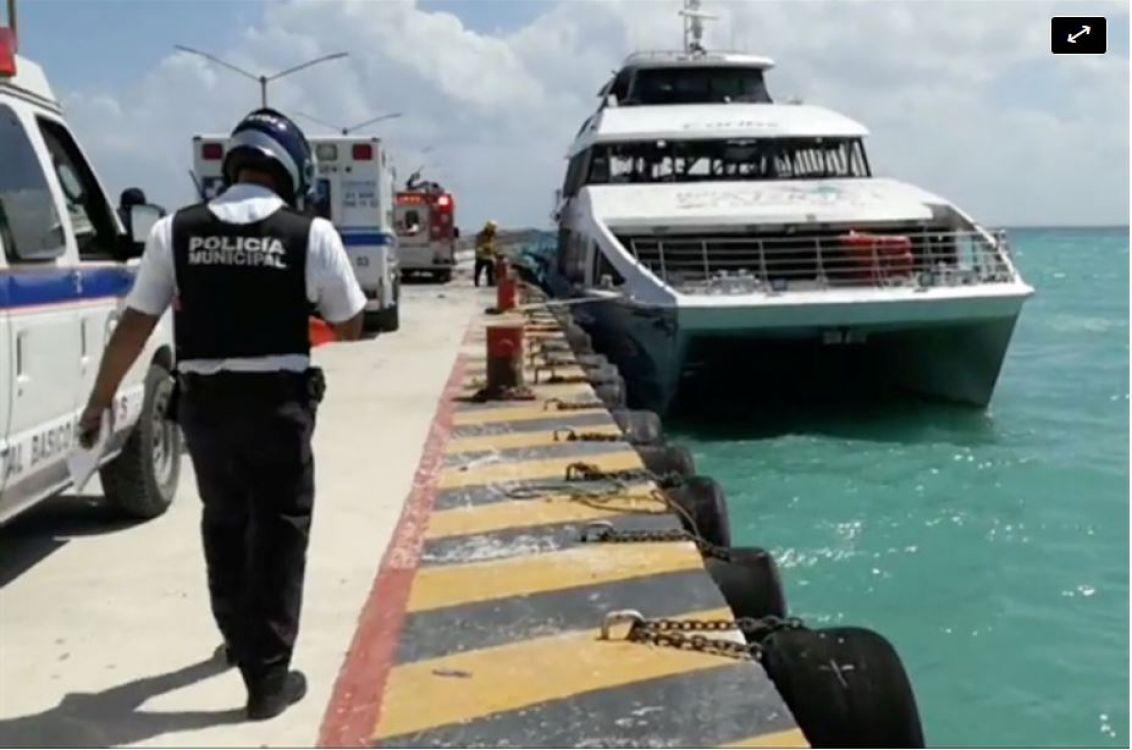 Explotó un ferry con turistas en el muelle de Playa del Carmen: al menos 25 heridos