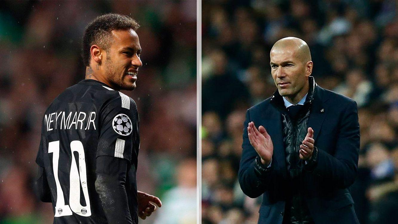 """""""Lo sentimos por Neymar"""", aseguró Zidane que ya dijo tras la lesión del brasileño que nunca habría deseado su ausencia en el PSG-Real Madrid."""
