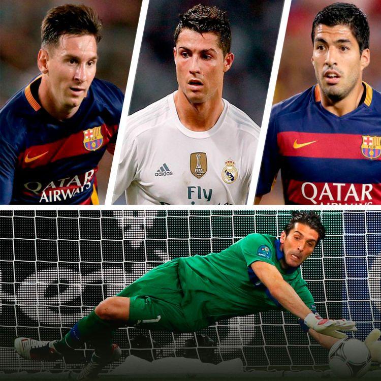Lionel Messi, Cristiano Ronaldo y Luis Suárez