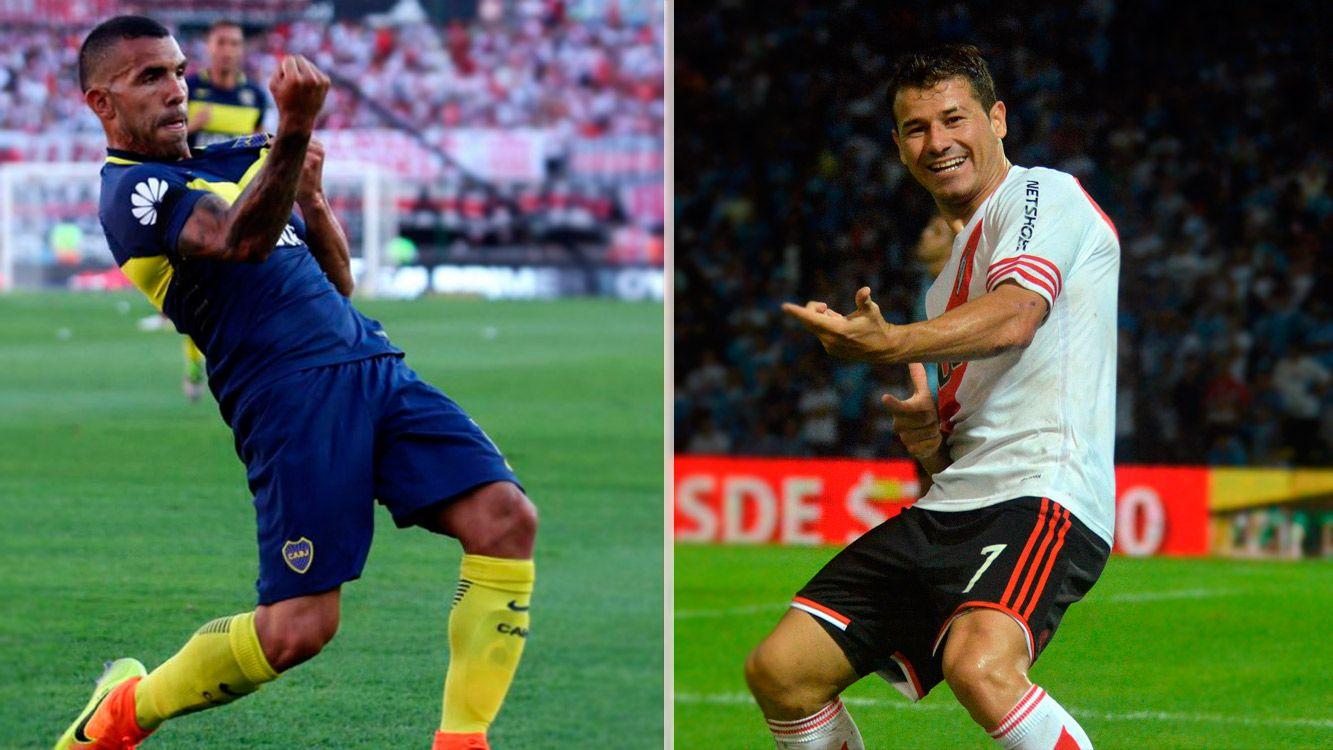 Tevez convirtió 4 veces ante River, y Mora le convirtió 6 al Xeneixe.