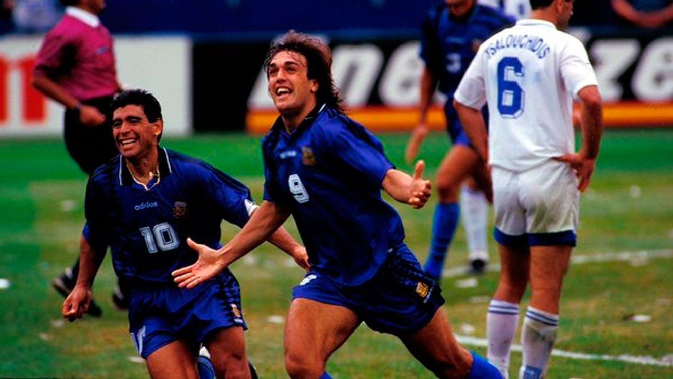 """Batistuta considera que """"Maradona es el mejor de todos los tiempos"""""""