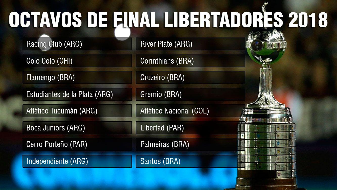 Octavos de final de la Copa Libertadores 2018