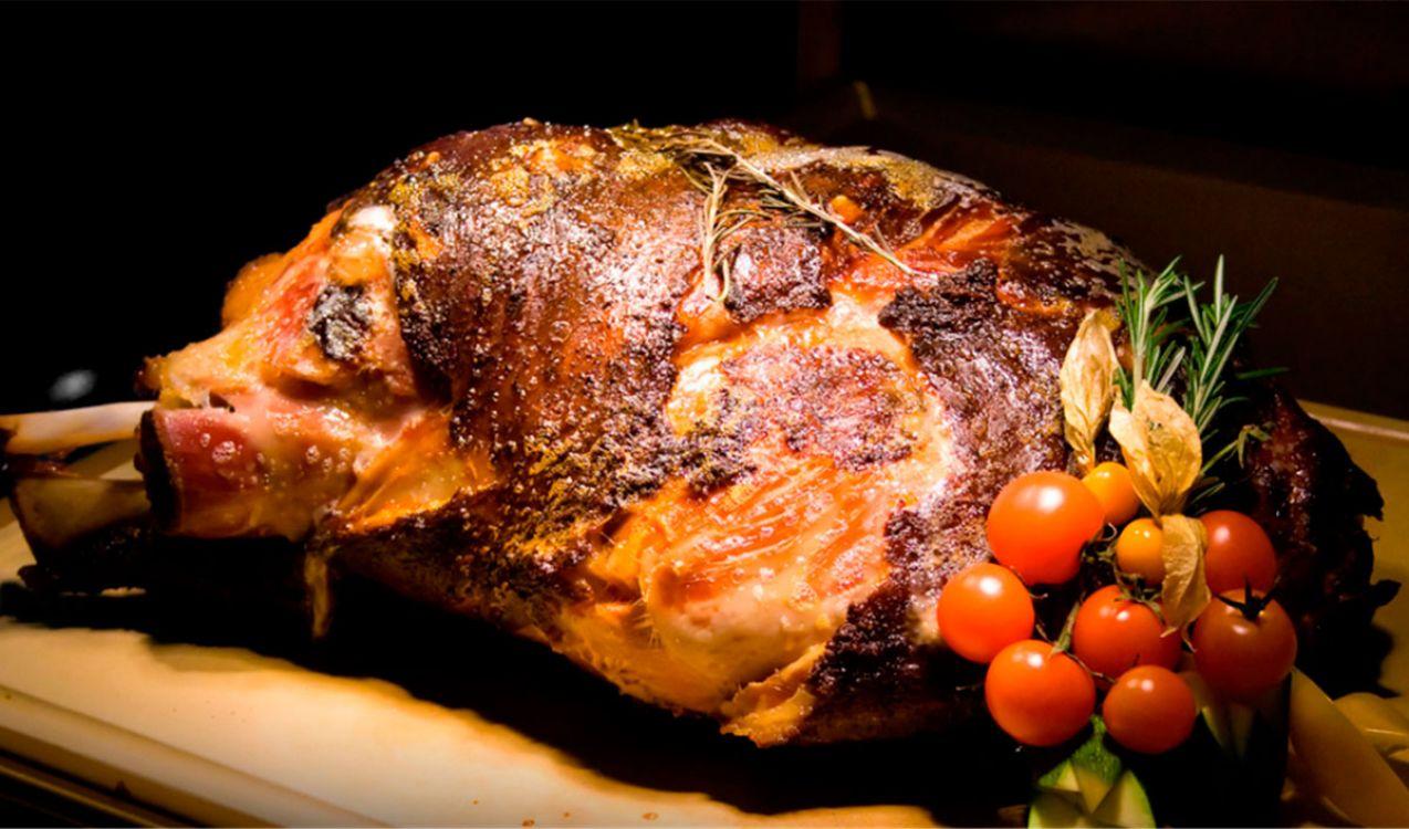 Pernil de cerdo a la mostaza y miel