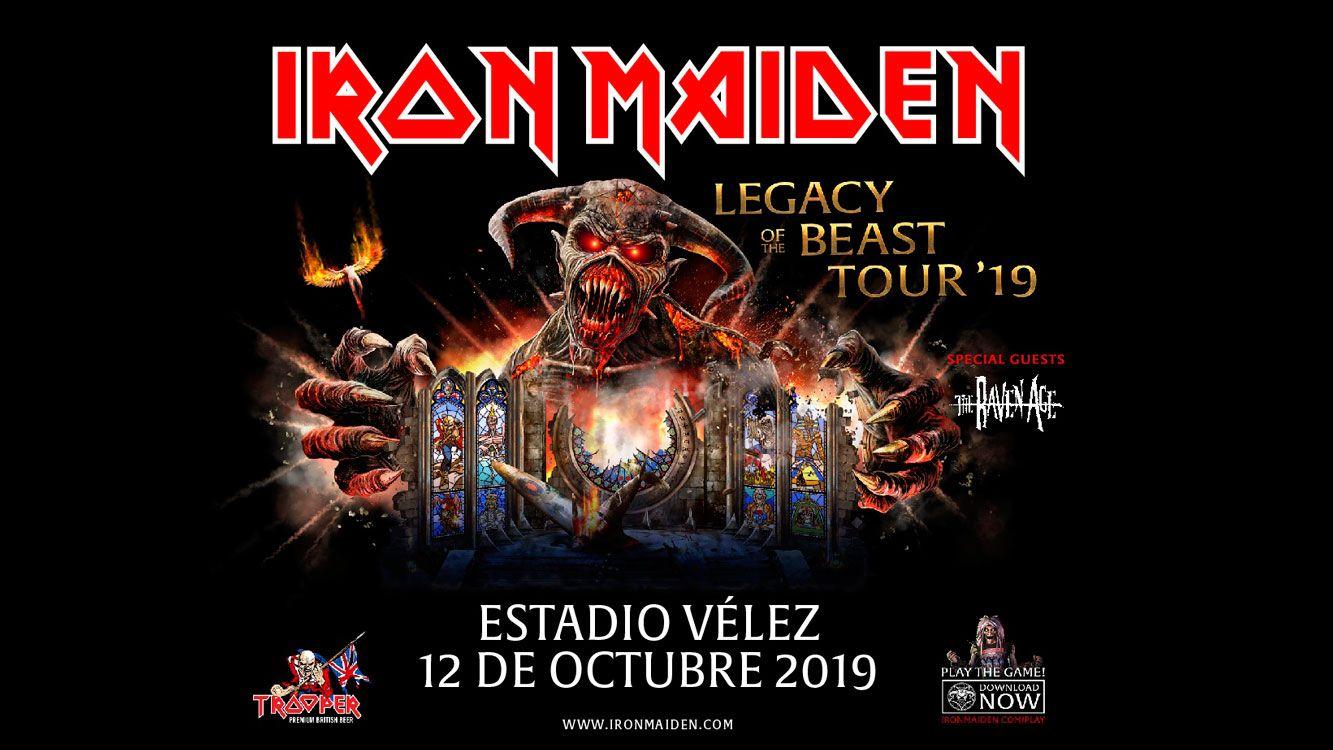 ¿cuándo es el concierto de Iron Maiden en Argentina 2019 ?