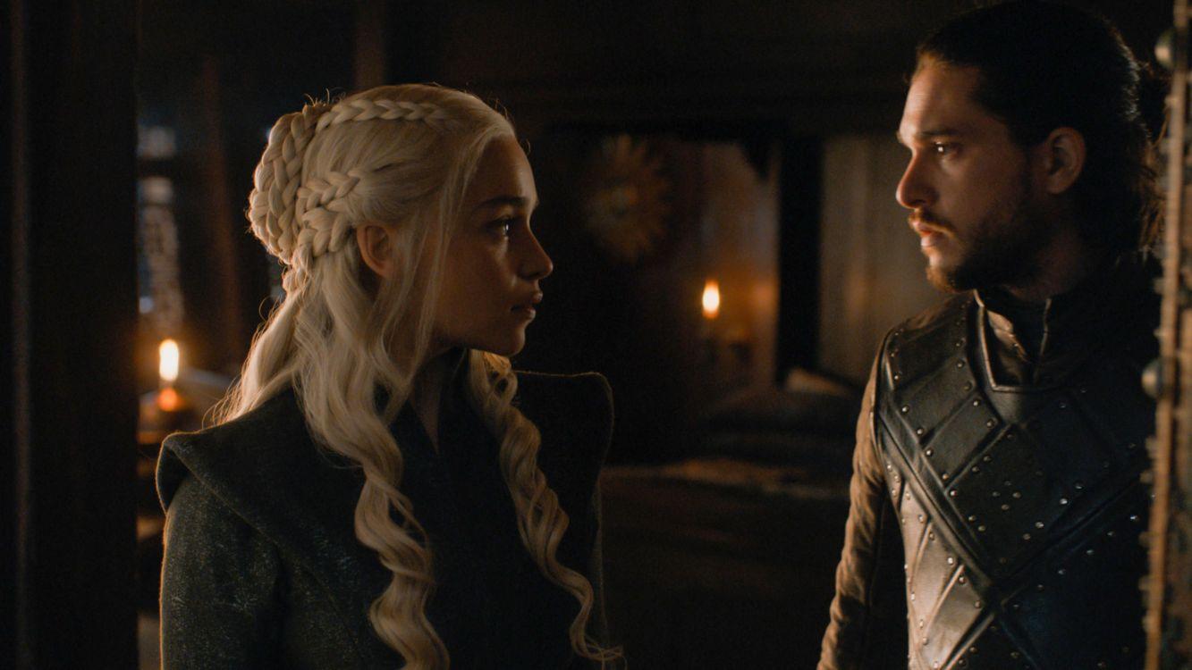 Daenerys y Jon en escena