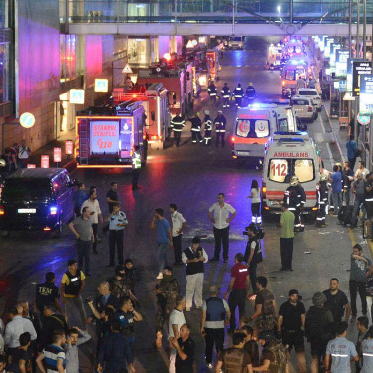 Imágenes del lugar del hecho después del atentado ocurrido.