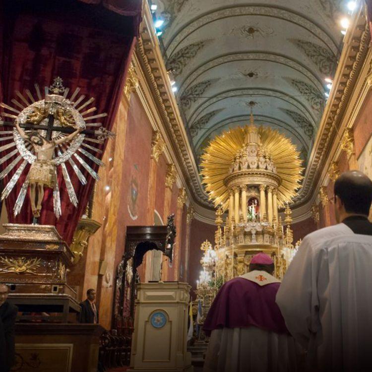 Vista del Señor del Milagro. Iglesia Catedral de Salta