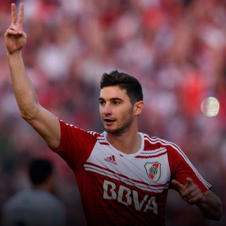 Lucas Alario, autor del primer gol