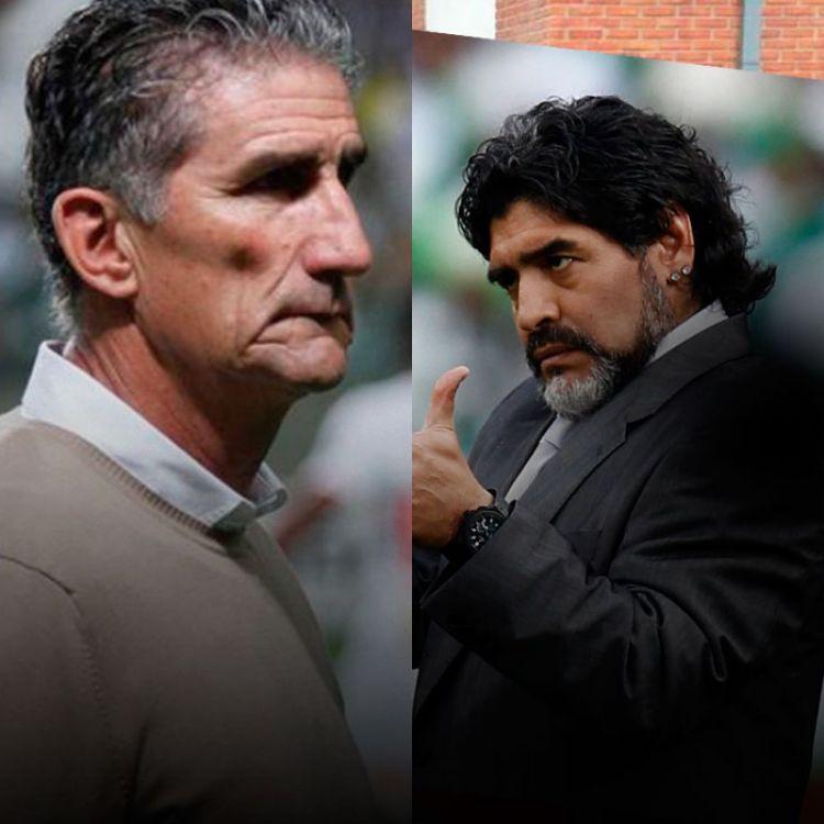 """Maradona vió con buenos ojos que el """"Patón"""" sea designado como el DT de la selección mayor."""