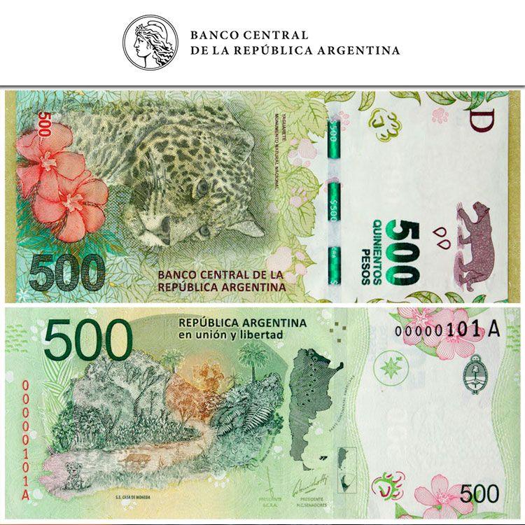 Billete de $500