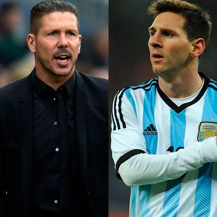 Diego Simeone y Lionel Messi