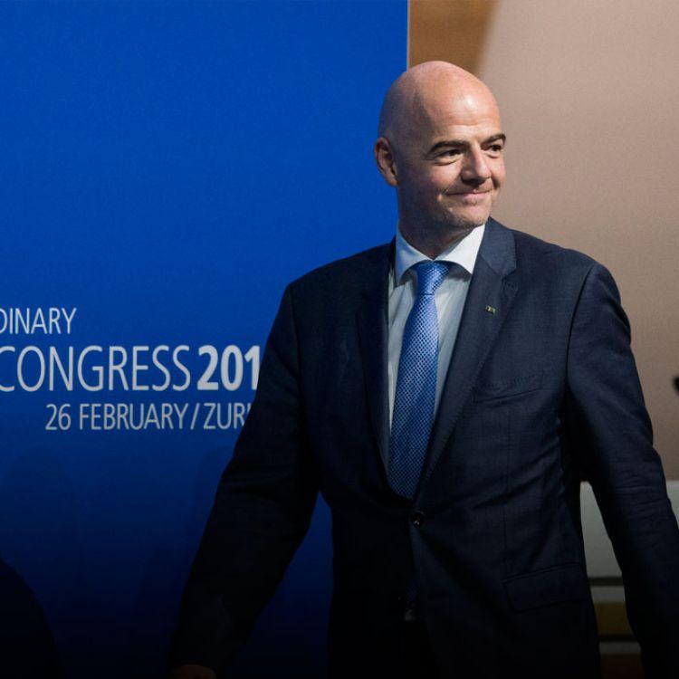 Infantino es presidente de la FIFA desde el 26 de febrero de 2016