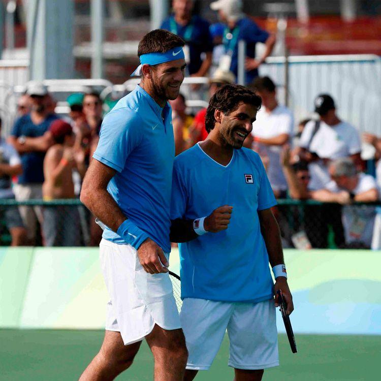 Foto de Clarín: Del Potro y González avanzaron en el dobles masculino