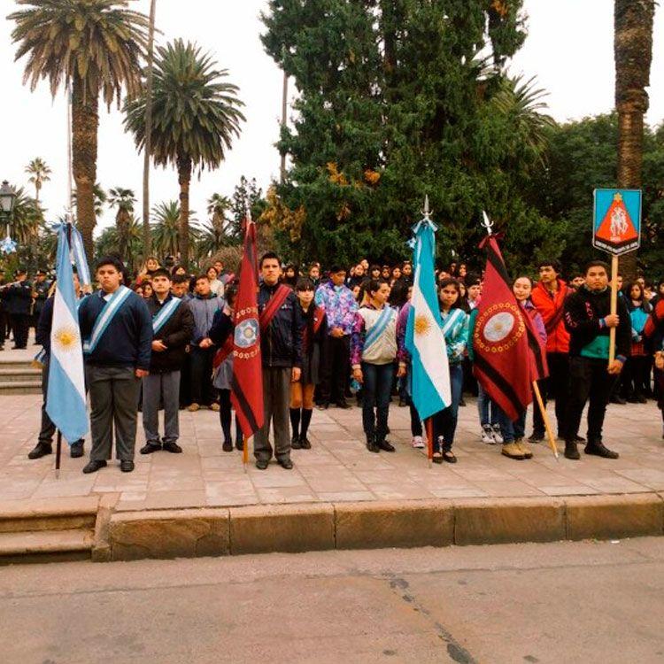 Festejos en la Plaza 9 de Julio