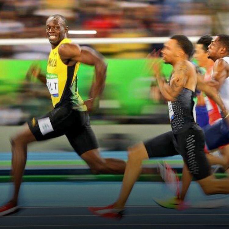 Bolt parece burlarse del canadiense Andre de Grasse; otra vez dominó la prueba sin complicaciones.