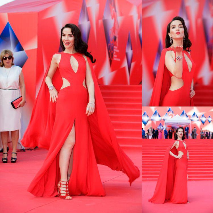 INFARTANTE. Carismática y elegante, Natalia cautivó a todo el pueblo ruso con su vestido rojo.