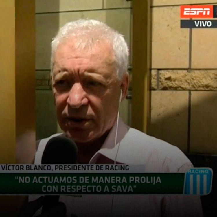 Blanco explicando la situación con Sava. Foto gentileza: ESPN