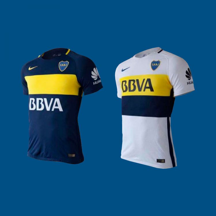 TITULAR Y SUPLENTE. Las camisetas que usará Boca esta temporada 2016