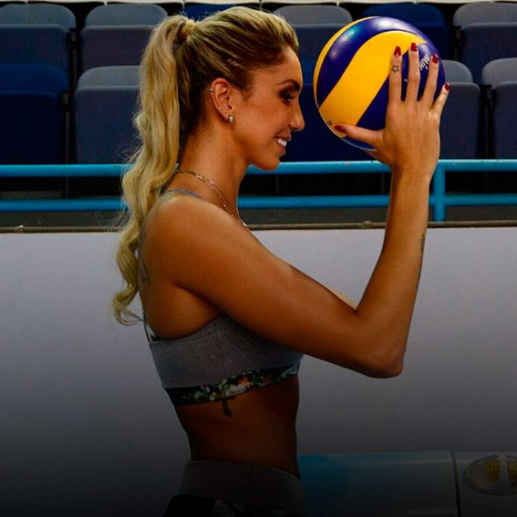 Thaisa Pallesi, jugadora del seleccionado de vóley femenino de Brasil, bi-campeona olímpica en Beijing 2008 y en Londres 2012.