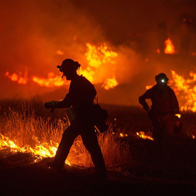 Un centenar de brigadistas combaten un incendio forestal en San Luis
