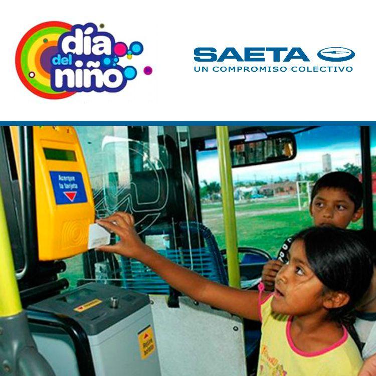 Por el Día del niño los chicos viajan gratis en colectivos de Saeta