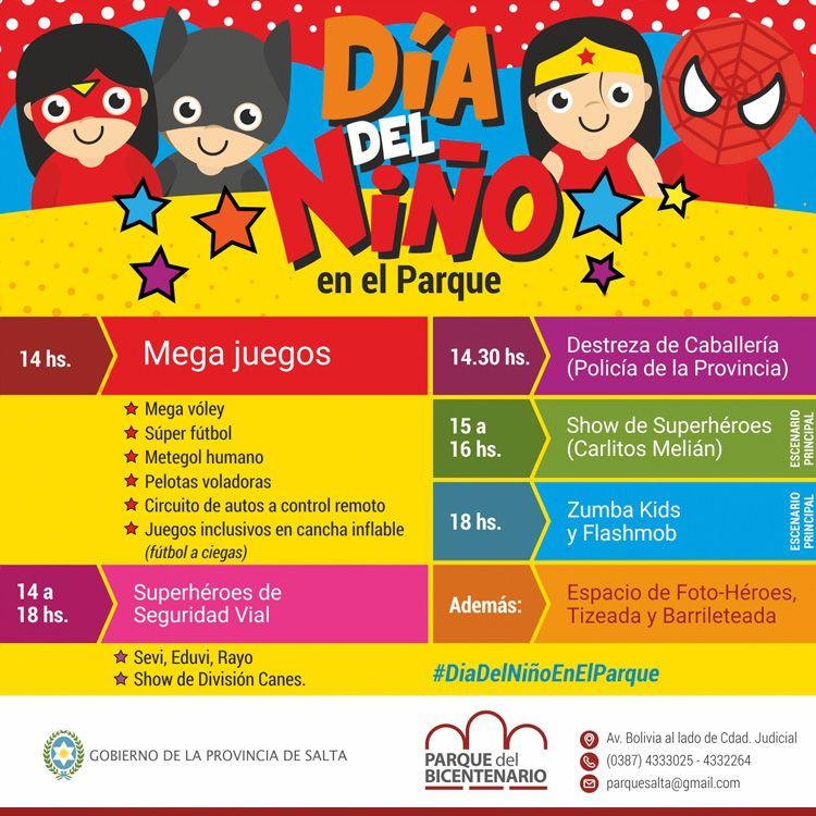 Mirá las actividades que organiza el Parque del Bicentenario para el Día del Niño