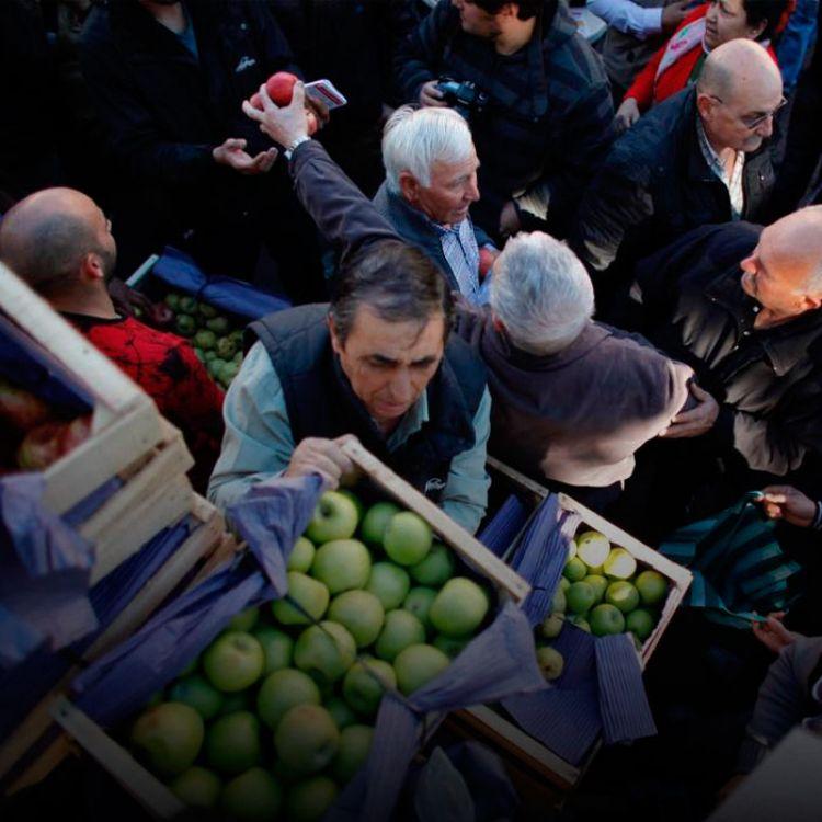 Otro reclamo común de los los productores locales se refería a los miles de kilos de frutas que están ingresando de Chile y Europa.