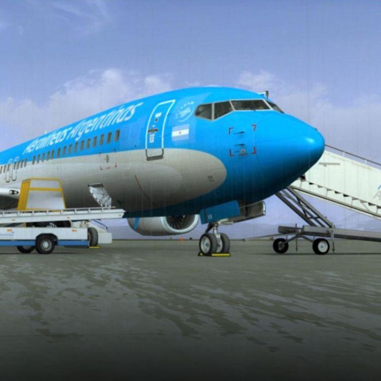 """Avión de la empresa """"Aerolineas Argentinas""""."""