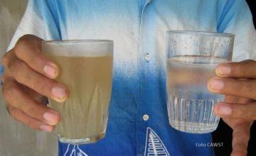 Diferencias entre el agua sin tratamiento y la potabilizada.