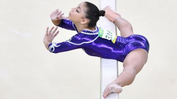 Flavia Saraiva en plena competencia (AFP)