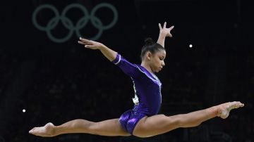 La brasilera Flavia Saraiva (AFP)
