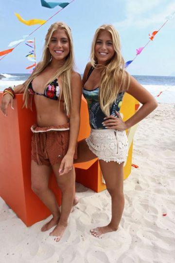 Las gemelas disfrutando de las playas de Río.