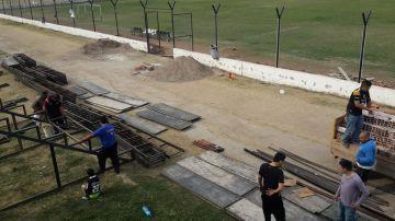 Obras en el estadio Doctor Luis Güemes.