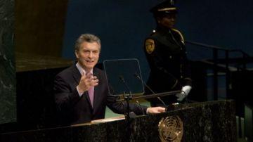 Macri ratificó dos veces que May se mostró dispuesta a hablar sobre las Malvinas.
