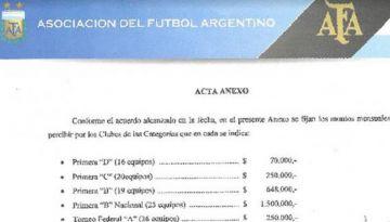 Los pagos realizados al Ascenso.