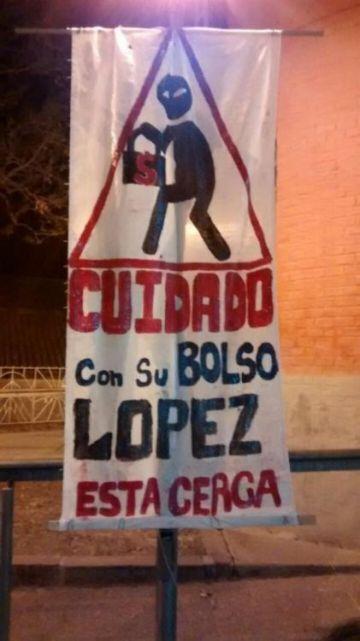 Así esperaban a López al llegar a Jujuy.