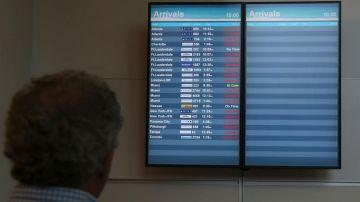 Los vuelos se encuentran suspendidos.
