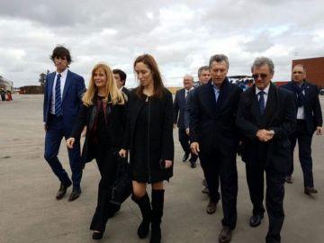 Canido hace un mes, junto a Macri, Vidal y la intendenta de La Matanza, Magario.