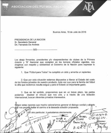 Carta de AFA.