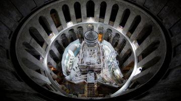 La Iglesia del Santo Sepulcro desde arriba.
