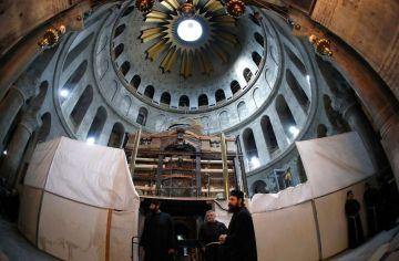 Restauración del Santo Sepulcro.
