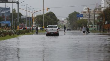Mar del Plata afectada por temporal de viento y lluvia